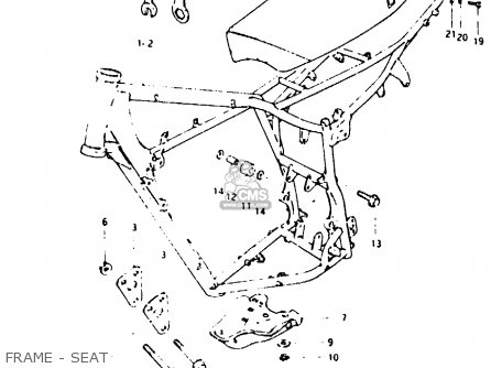 Suzuki Pe250 1980 (t) parts list partsmanual partsfiche