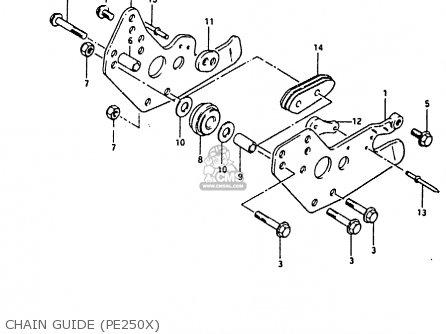 Suzuki Pe250 1981 (x) parts list partsmanual partsfiche