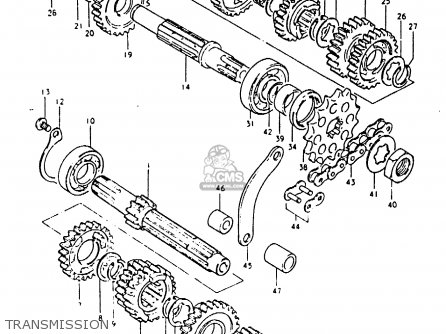 Suzuki PE250 1981 (X) (E01 E02 E04 E15 E21 E24) parts