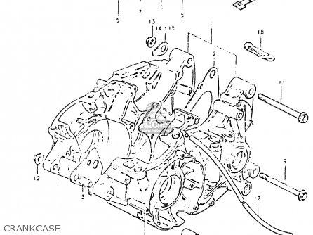 Suzuki Pe400 1980 (t) parts list partsmanual partsfiche