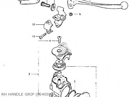 Suzuki Pe400 1980 (t) (e01 E02 E15 E24) parts list