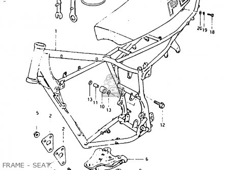Suzuki Pe400 1980 (t) parts list partsmanual partsfiche