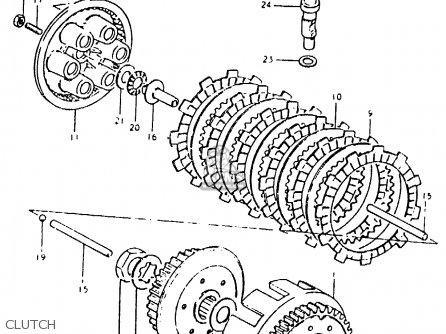 Suzuki Pe400 1981 (x) parts list partsmanual partsfiche