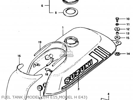 Suzuki Pv50 1983 (d) parts list partsmanual partsfiche
