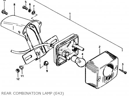 Suzuki Pv50 1994 (r) (e01) parts list partsmanual partsfiche