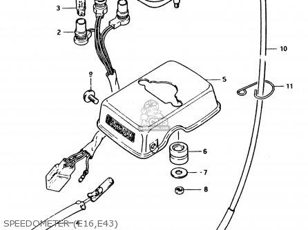 Suzuki PV50 1994 (R) (E01) parts lists and schematics