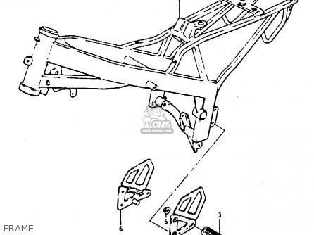 Suzuki Rb50 1987 (h) parts list partsmanual partsfiche