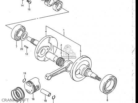 Suzuki RB50 1987 (H) USA (E03) parts lists and schematics