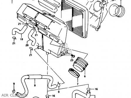 Suzuki Rf600 1995 (rs) parts list partsmanual partsfiche