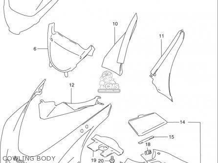 Suzuki Rf600 R 1994-1996 (usa) parts list partsmanual