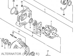 Suzuki RF600R 1994 (R) USA (E03) parts lists and schematics