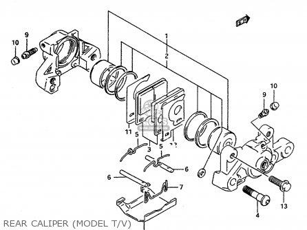 Suzuki RF600RU 1994 (R) (E22) parts lists and schematics