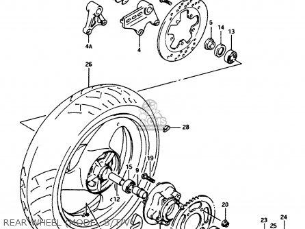 Suzuki Rf600ru 1994 (r) (e22) parts list partsmanual