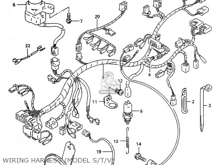Suzuki RF600RU 1994 (R) (E22) parts lists and schematics