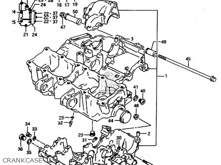 Suzuki Rf600ru 1996 (t) (e22) parts list partsmanual