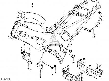 Suzuki Rf600ru 1996 (t) (e22) parts list partsmanual
