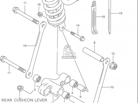 Suzuki Rf900 R 1994-1997 (usa) parts list partsmanual