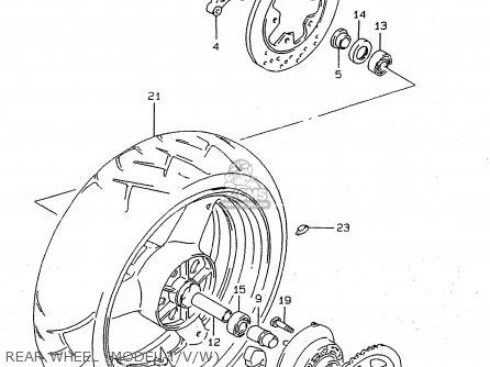 Suzuki RF900R 1995 (S) (E02 E04 E18 E22 E24 E25 E34 E37