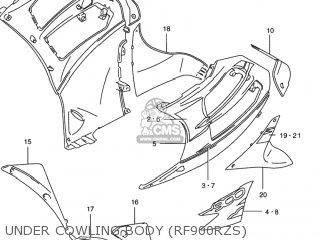 Suzuki RF900R 1996 (T) USA (E03) parts lists and schematics