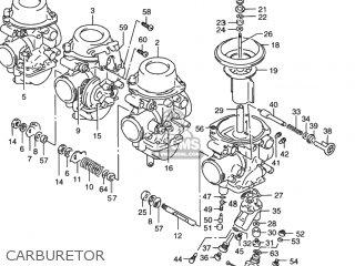 Suzuki RF900R 1997 (V) USA (E03) parts lists and schematics