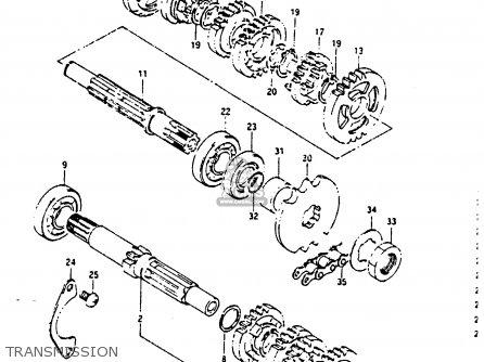 Suzuki Rg125 1986 (cg) parts list partsmanual partsfiche