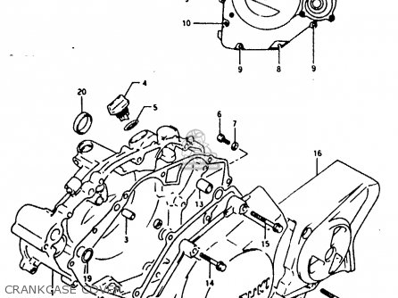 Suzuki Rg125 1992 (fun) parts list partsmanual partsfiche