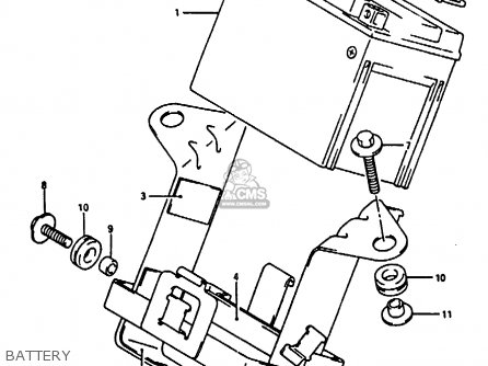 Suzuki Rg125 1992 (un) parts list partsmanual partsfiche