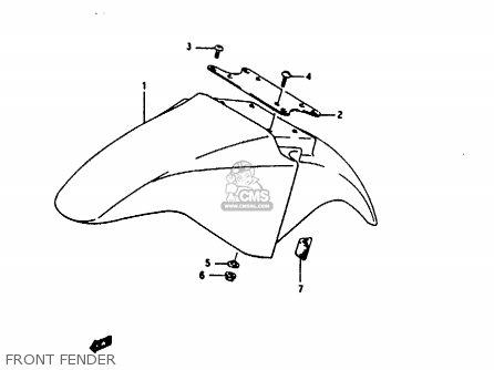 Suzuki Rg125 1992 (un) parts list partsmanual partsfiche