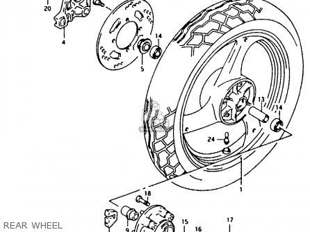 Suzuki RG125F 1993 (P) (E01 E15 E17 E18 E34) parts lists