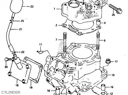 Suzuki RG125F 1994 (R) (E15 E18 E34) parts lists and