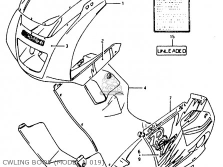 Suzuki Rg125fu 1992 (n) (e02 E04) parts list partsmanual