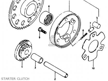 Suzuki Rg125fu 1992 (n) (e02 E04) parts list partsmanual