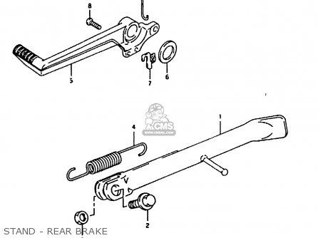 Suzuki Rg125fu 1994 (r) (e02 E04) parts list partsmanual