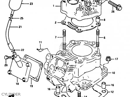 Suzuki RG125U 1992 (N) (E02 E04) parts lists and schematics