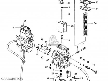Suzuki Rg250 1986 (fg) parts list partsmanual partsfiche