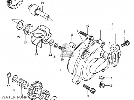 Suzuki RG250 1987 (H) (E01 E04 E21) parts lists and schematics