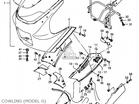 Suzuki Rg250f 1986 (g) (e02 E16 E24 E30) parts list