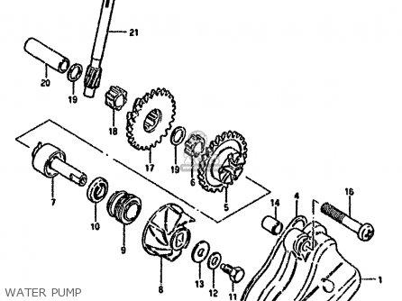 Suzuki Rg80 1985 (cf) parts list partsmanual partsfiche