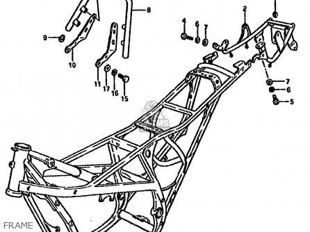 Suzuki Rg80 1988 (j) parts list partsmanual partsfiche