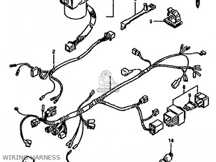 Suzuki Rg80 1988 (j) parts list partsmanual partsfiche