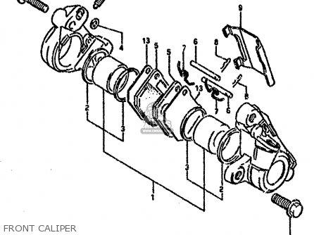 Suzuki RG80C 1987 (H) FRANCE GERMANY (E04 E22) parts lists