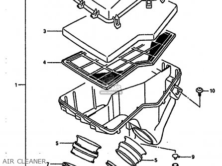Suzuki Rgv250 1989 (k) parts list partsmanual partsfiche