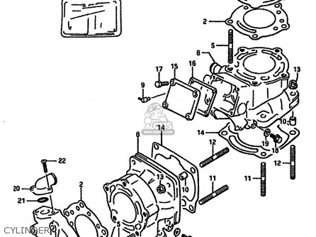Suzuki RGV250 1989 (K) (E02 E04 E21 E24 E34) parts lists