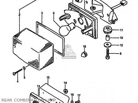 Suzuki RGV250 1989 (K) (E02 E04 E21 E24 E34) parts lists