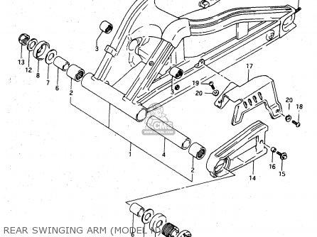 Suzuki Rgv250 1991 (m) parts list partsmanual partsfiche