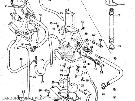 Suzuki Rgv250 1993 (p) parts list partsmanual partsfiche