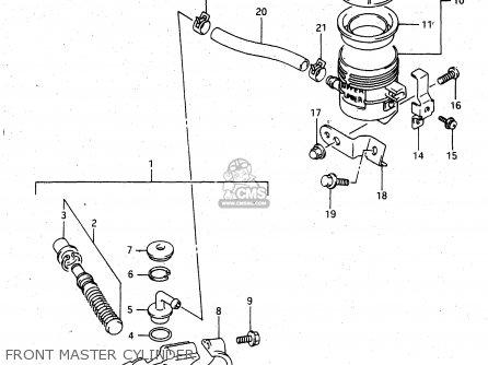 Suzuki Rgv250 1993 (p) parts list partsmanual partsfiche