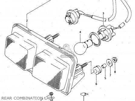 Suzuki Rgv250 1994 (r) (e02 E04 E21 E24 E34) parts list