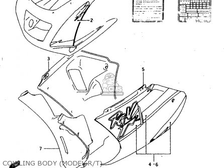 Suzuki Rgv250 1996 (t) (e24) parts list partsmanual partsfiche
