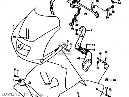 Suzuki Rgv250l 1991 (m) (e02 E21 E22 E24) parts list